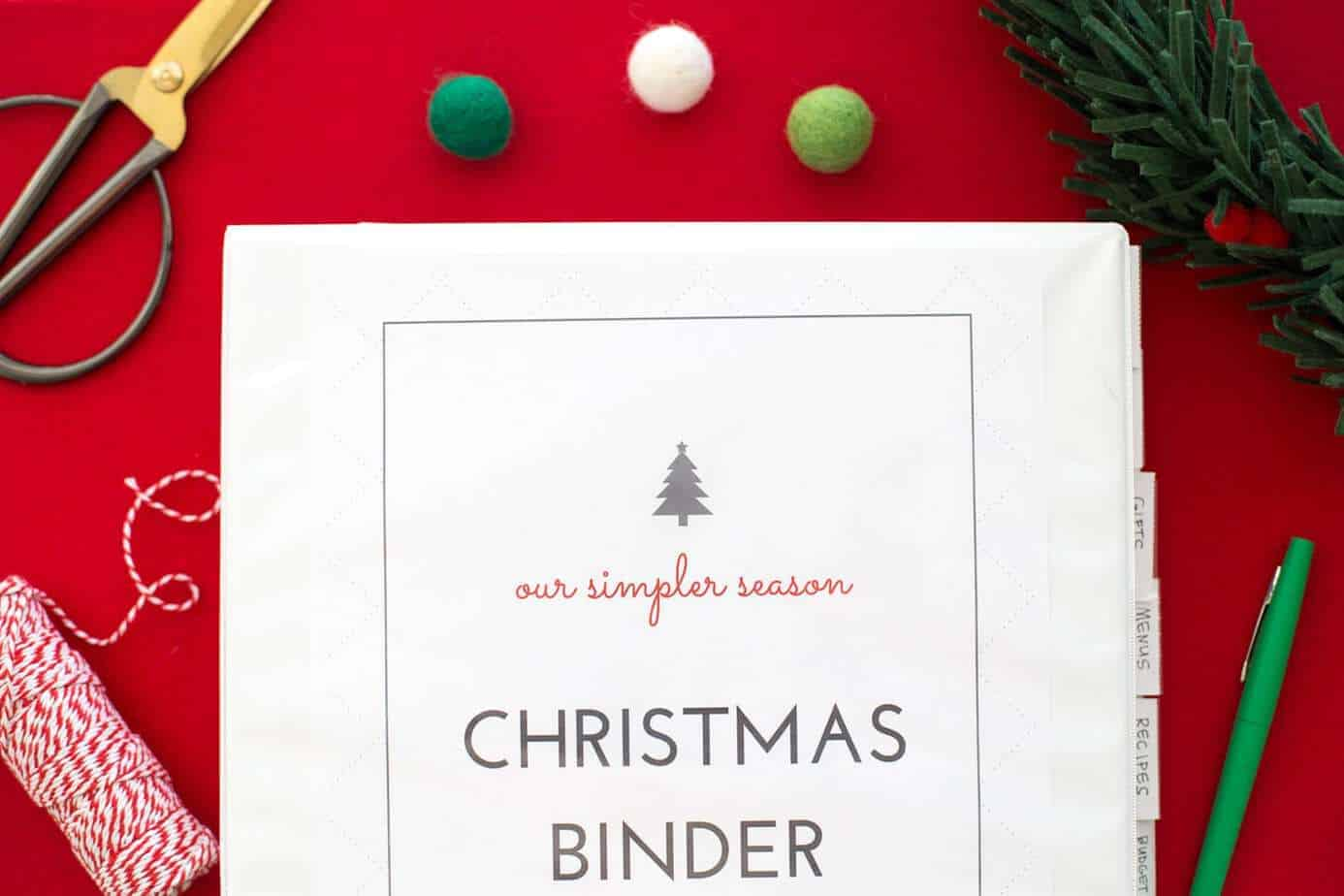 2020 Easy Printable Christmas Organizer Simplify Christmas In 7 Easy Steps (2020)  So Festive!
