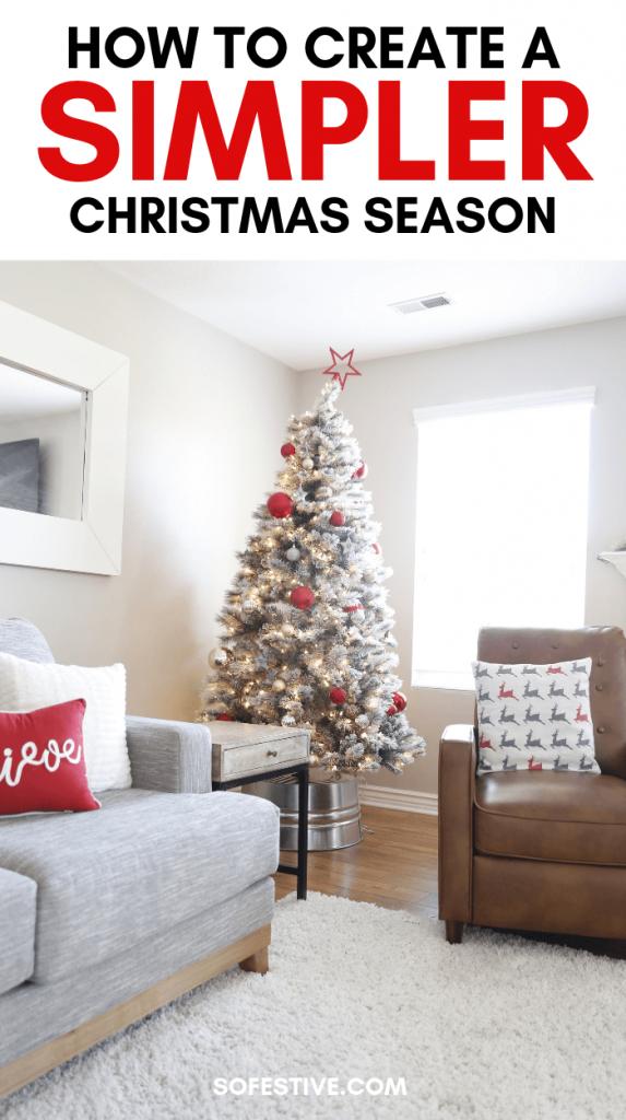 Create a Simpler Christms Season-