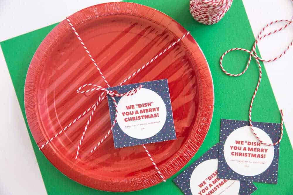 Neighbor Christmas Gift Idea- with paper plates