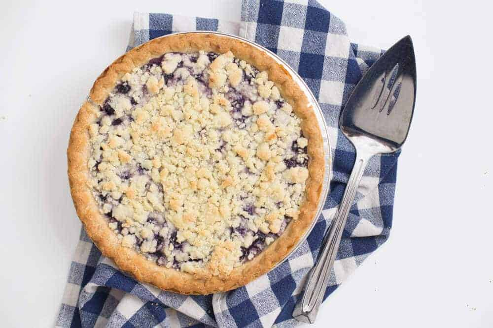 Blueberry Sour Cream Pie Recipe-2