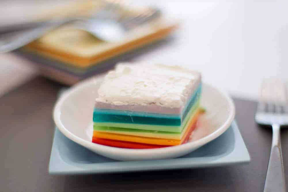 Rainbow -Jello -Recipe-and Tutorial-13 layered Jello Recipe