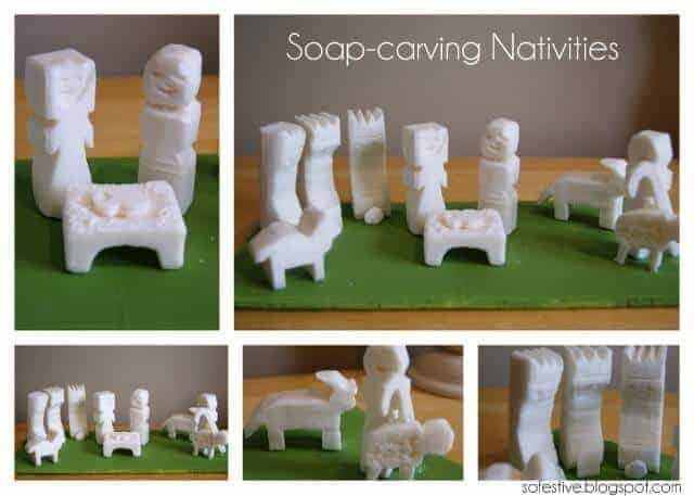 Soap Carving Nativities