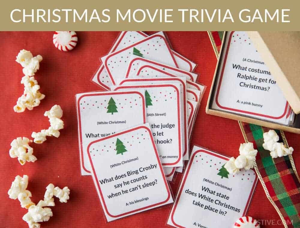 photo regarding Christmas Movie Trivia Printable named Xmas Video Trivia Sport- Xmas Celebration Video game Strategy! - Consequently