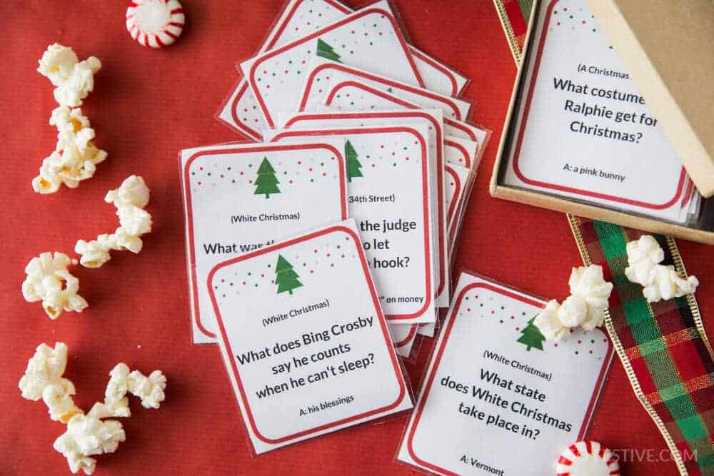 Check out the Christmas Movie Trivia Game for another fun Christmas party game!
