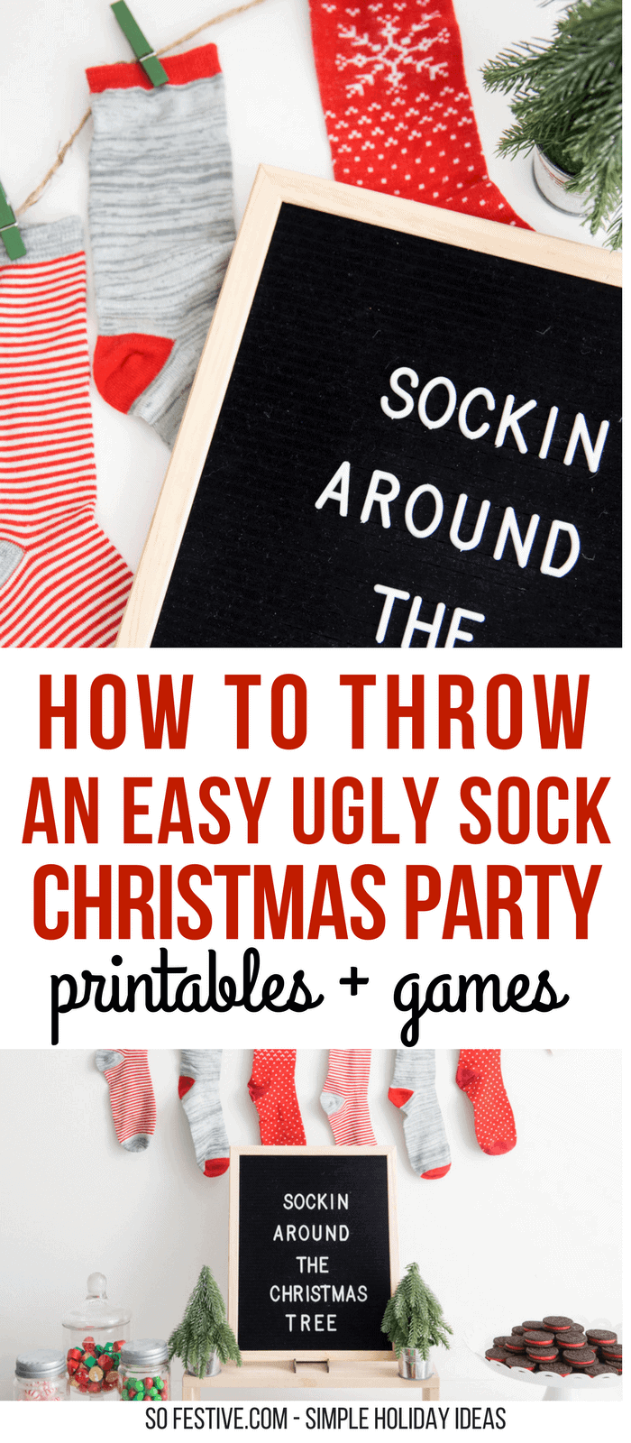 Tacky Christmas Sock Party Ugly Sweater Party Alternative So