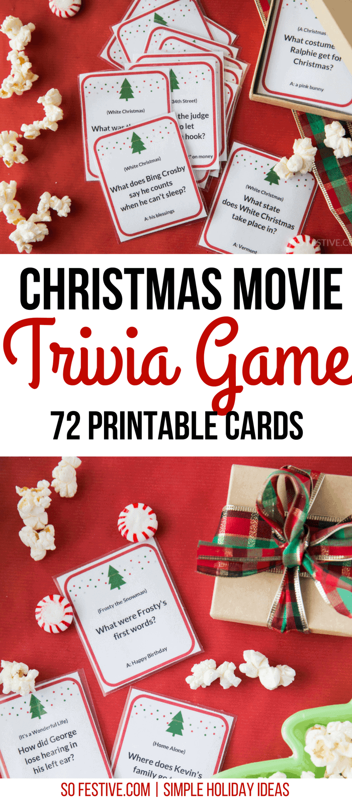 It's just an image of Vibrant Christmas Movie Trivia Printable