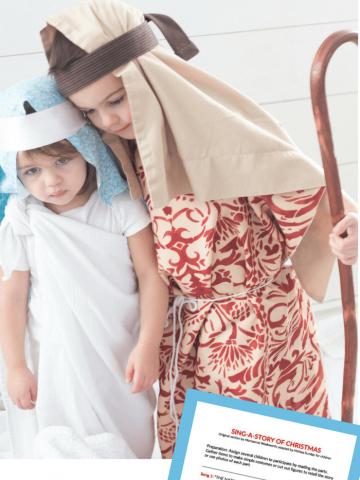 Printable Nativity Program for Children-LDS Primary Sharing Time