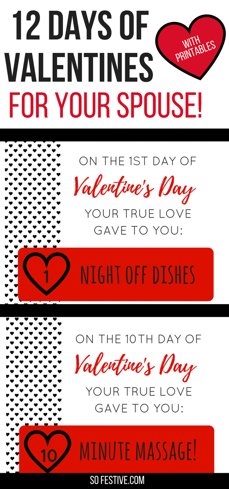 12 Days of Valentines for Your Spouse