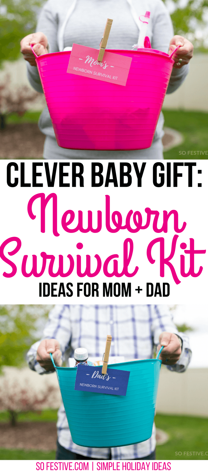 Clever baby-gift-idea-newborn-survival-kits-baby-shower-gift-idea