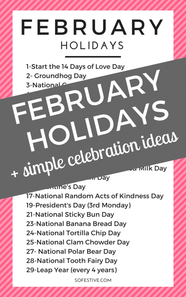 February- Holidays- List