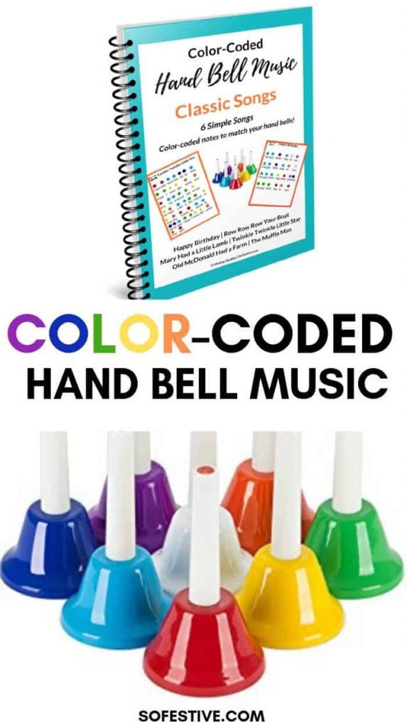 Hand Bell Music- Color-Coded Hand Bell Set- Classic Songs
