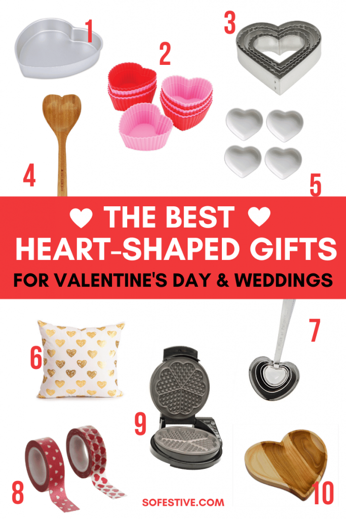 Heart-Shaped Gift Ideas- Valentine's Day and wedding gifts