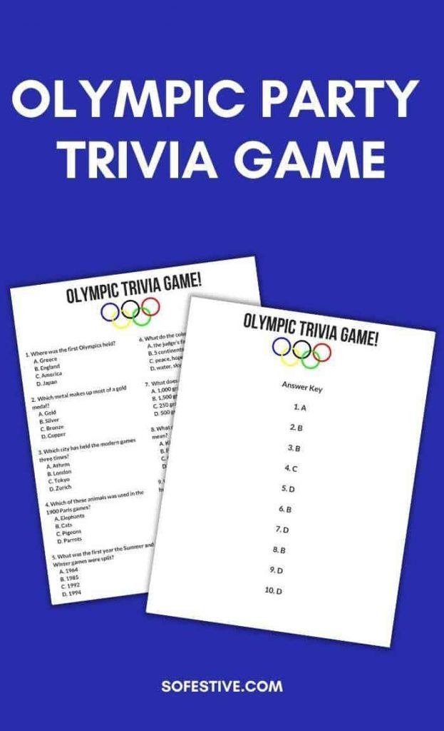 OLYMPIC-PARTY-TRIVIA-GAME