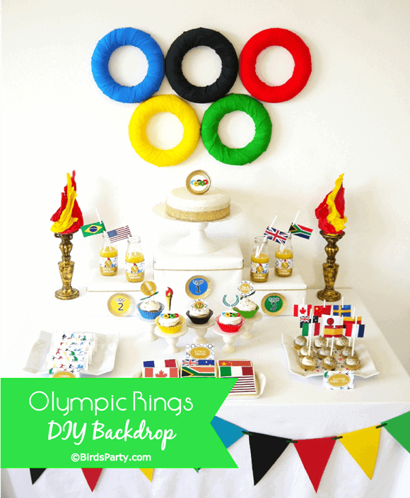 Olympic-Rings-DIY-table-backdrop-craft