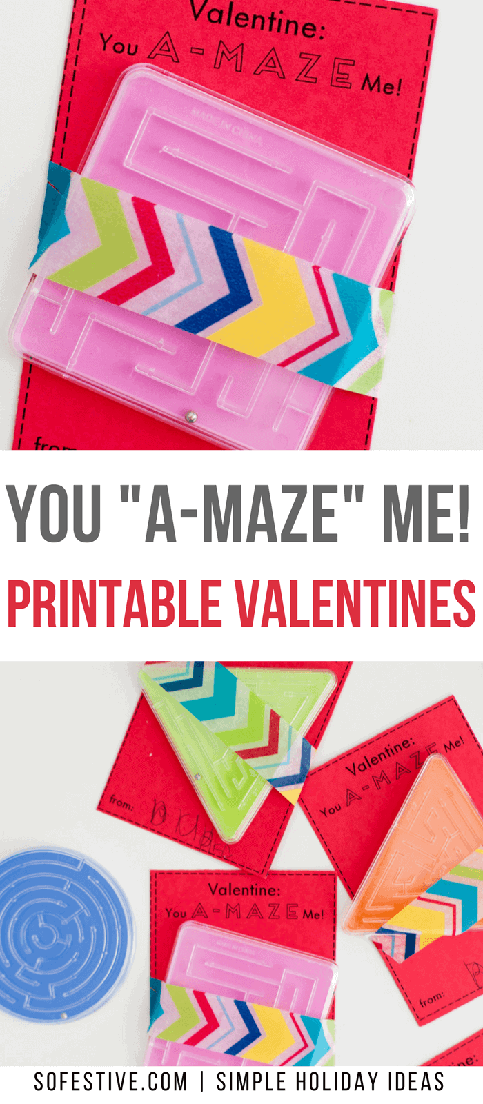 You A-maze Me -Printable-Valentines
