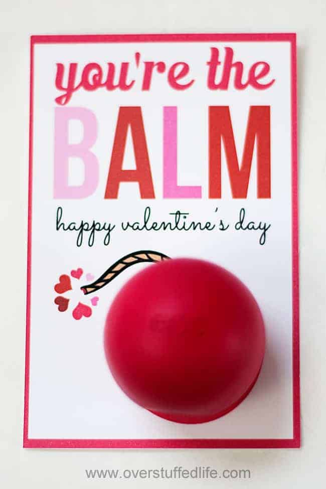 You're the BALM eos lip balm valentine