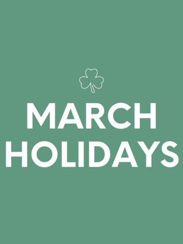 MARCH-HOLIDAYS
