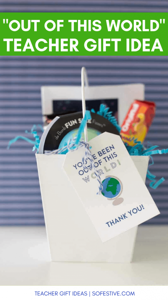 Cute Teacher Appreciation Gift idea- space themed gift ideas