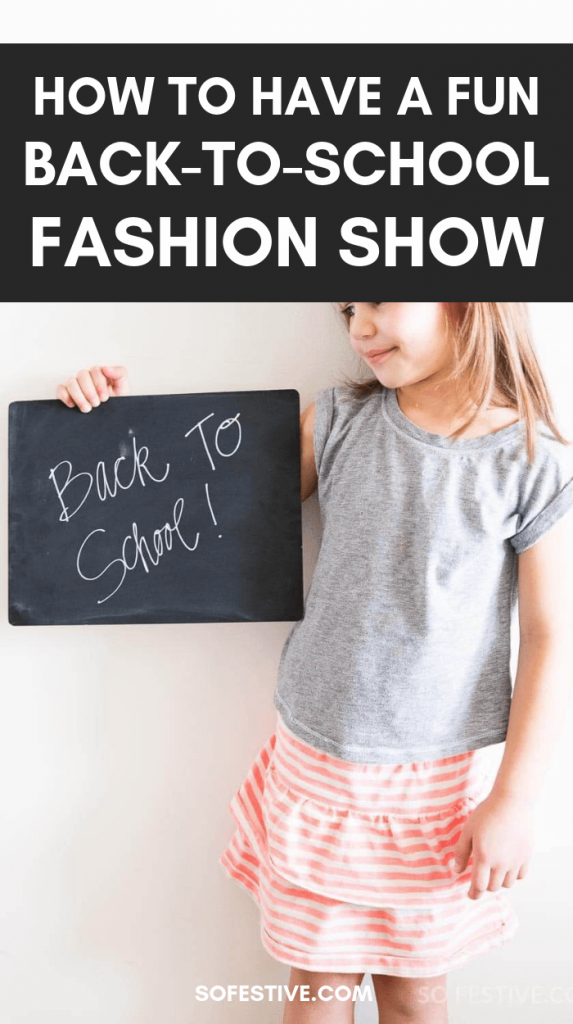 Back to School Fashion Show- Back to School Traditions-Kids