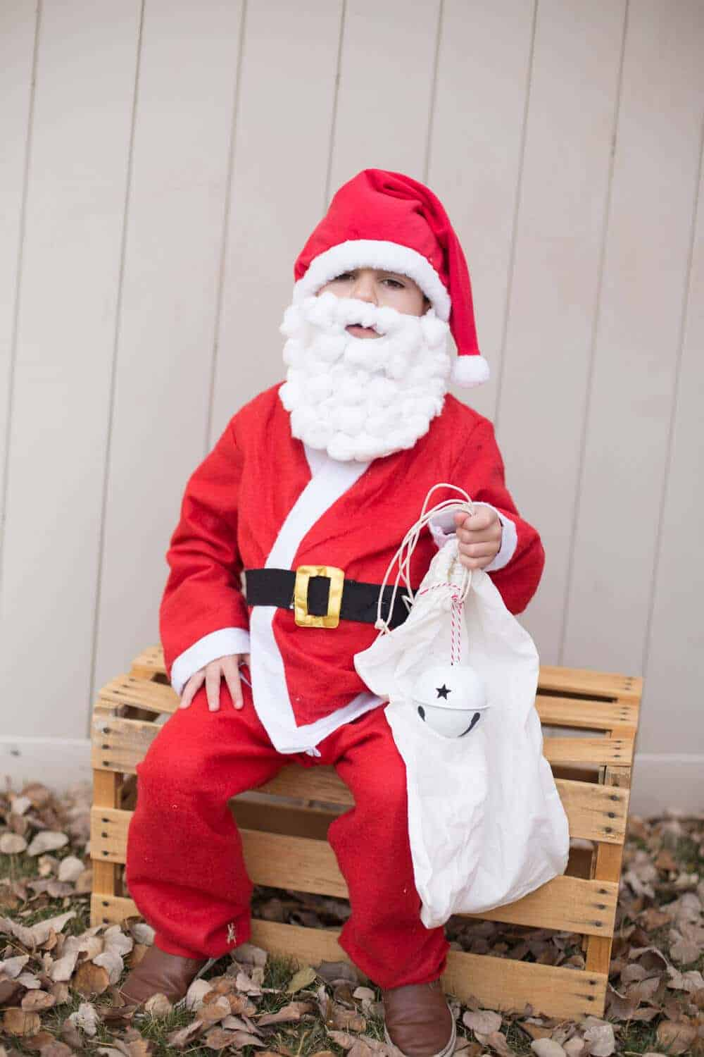 anta Clause costume- family halloween costume ideas
