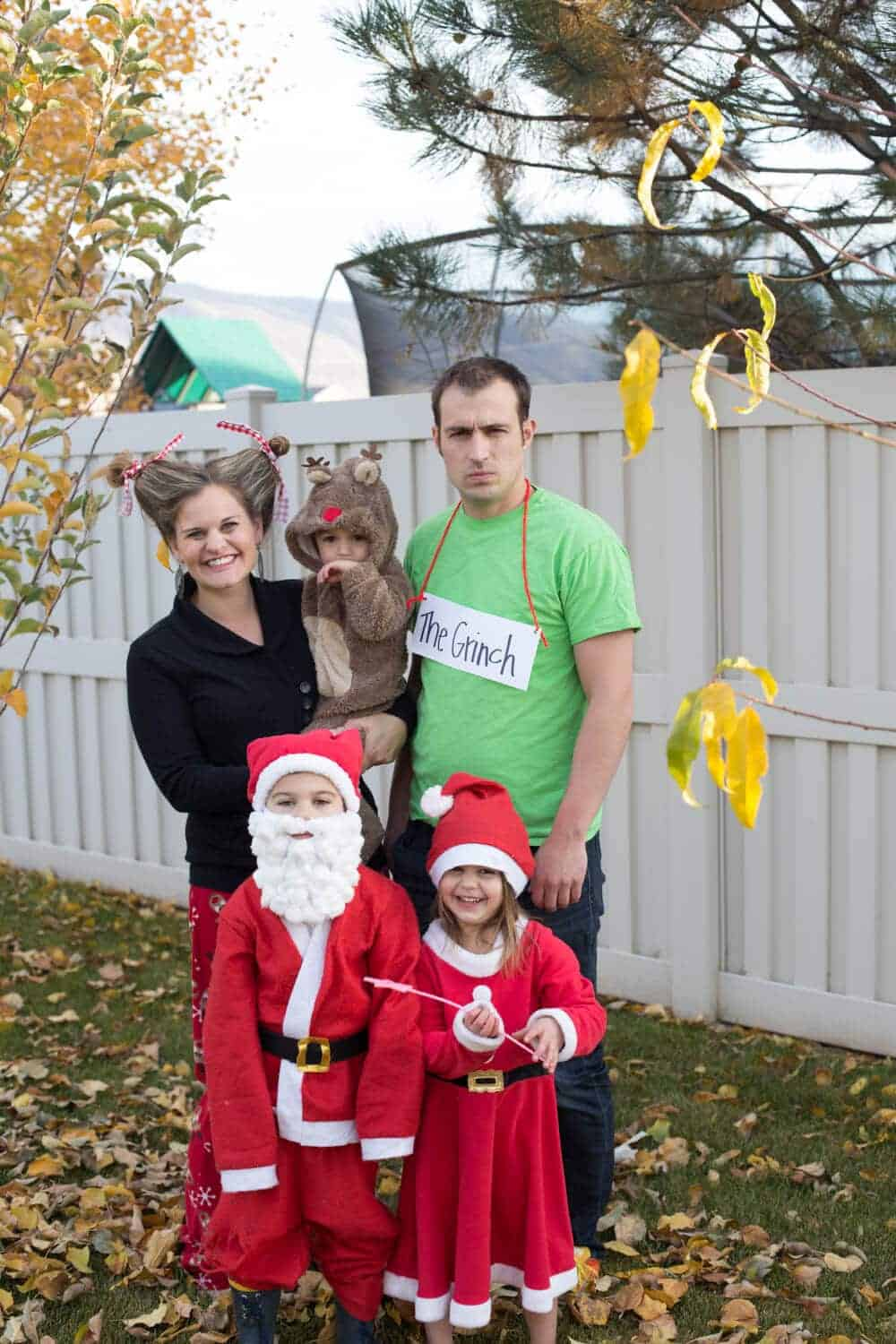 family halloween costume idea- merry halloween-christmas costumes