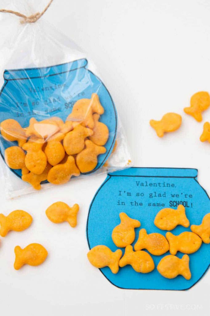 picture relating to Goldfish Valentine Printable named Goldfish Valentines- Non-Sweet Clroom Valentines - Therefore