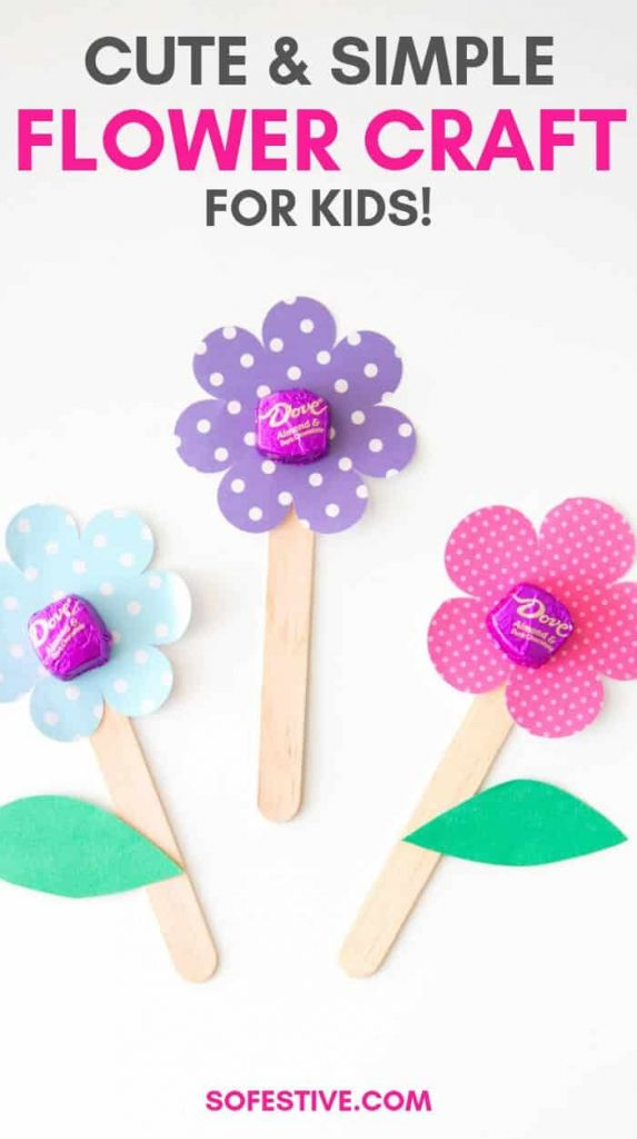 Flower Craft Gift Idea Easy Tutorial For Kids So Festive So