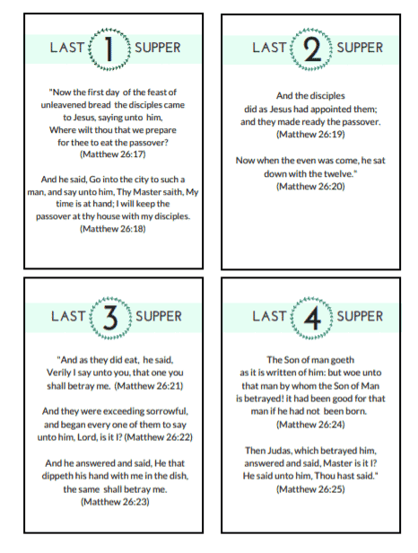 Last Supper Discussion Cards
