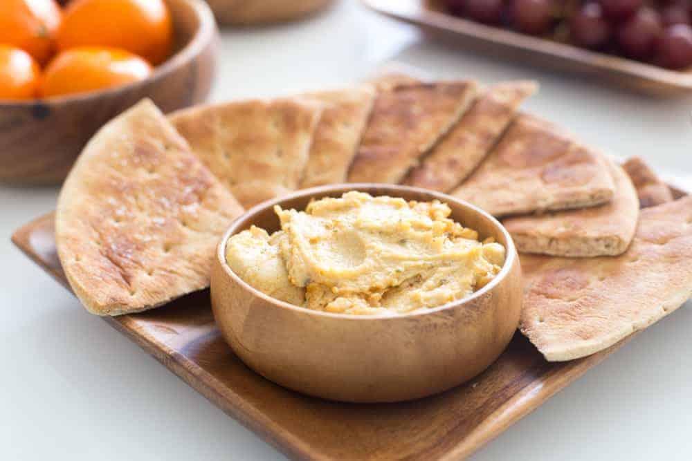 Last Supper-Easter Passover Dinner-Pita Bread-Hummus-2