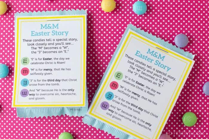 M&M Easter Poem- Easter Gift Printable Tag (2)