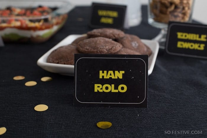 Han Solo-Star Wars Party Food Ideas
