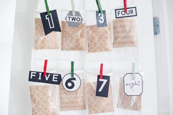 SHOE HANGER ADVENT CALENDAR