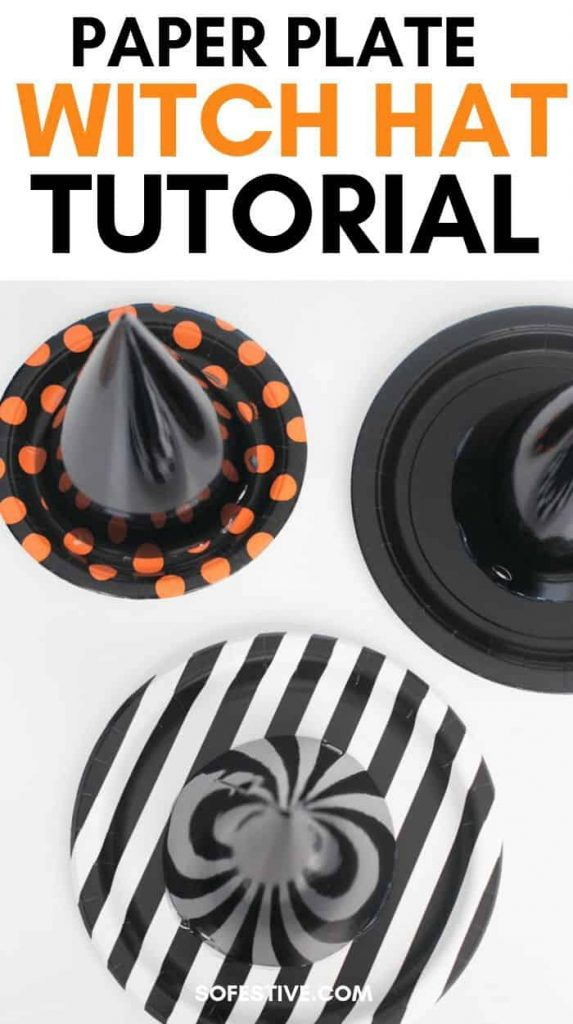 Witch Hat Halloween Decorations Tutorial