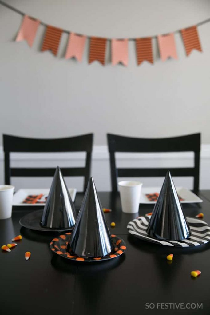 Diy Paper Plate Witch Hat Decorations So Festive