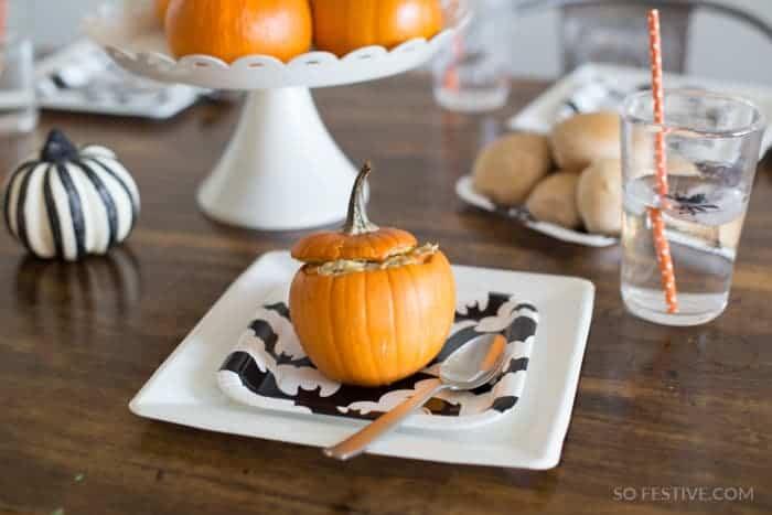 Dinner-in-a-pumpkin