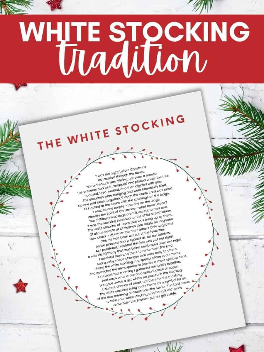 white-stocking-poem-tradition