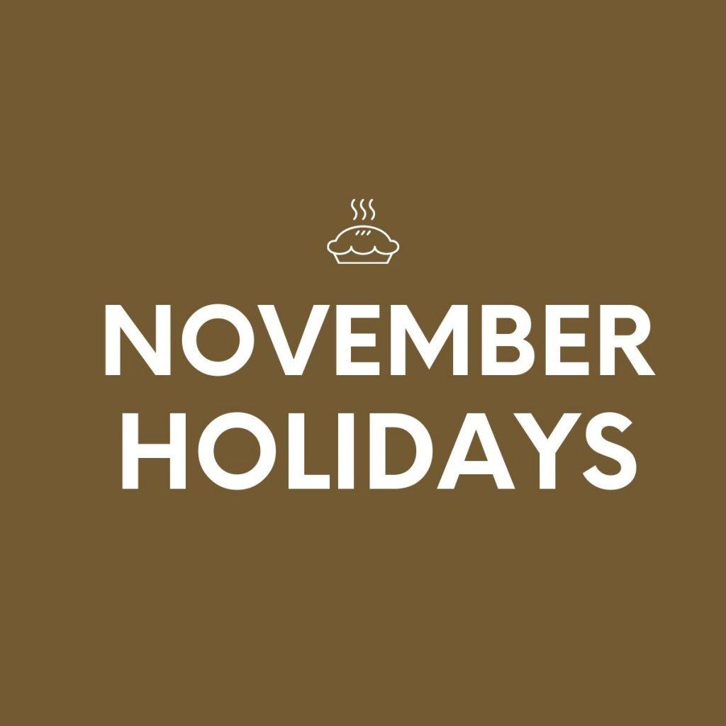NOVEMBER-HOLIDAYS