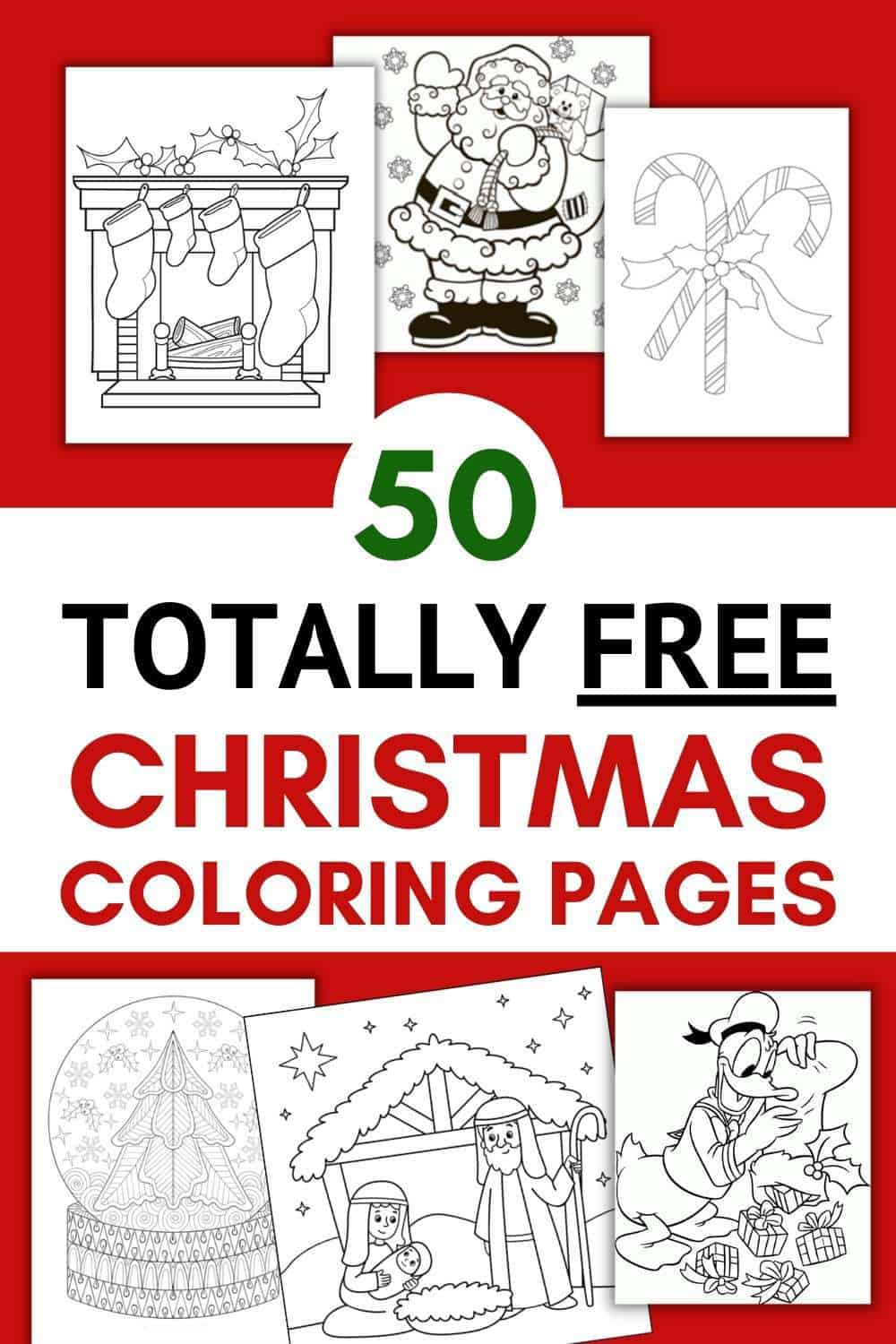 55 Free Christmas Coloring Pages Printables 2021 Sofestive Com